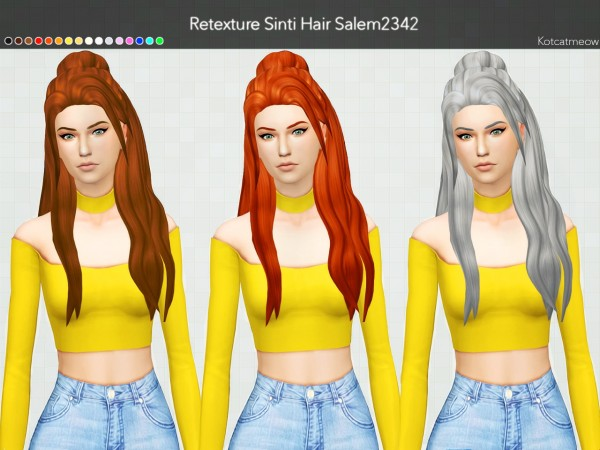 Kot Cat: Salem2342 Sinti Hair Clayified for Sims 4