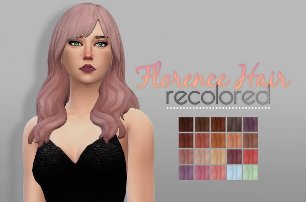 Whoohoosimblr: Florence Hair for Sims 4