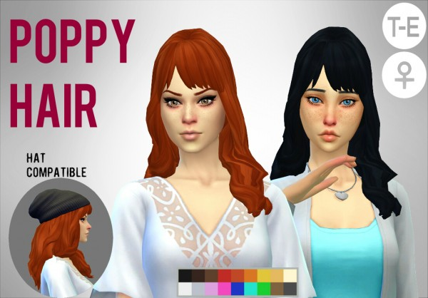 Simduction: Poppy Hair for Sims 4
