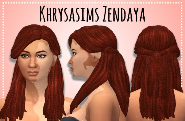 Simsworkshop: Plait Pack Braided Retextured by leeleesims1 for Sims 4