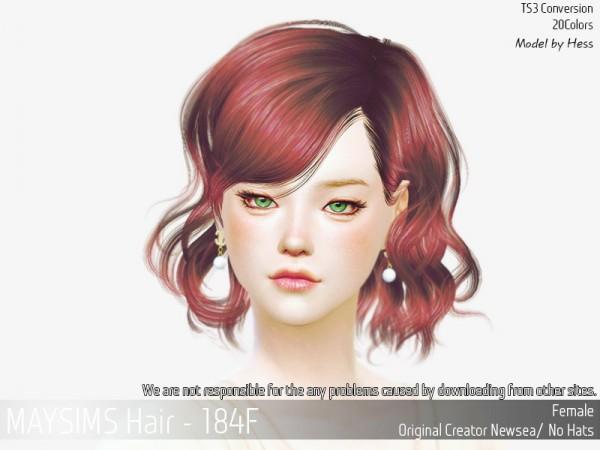 MAY Sims: May 184F hair for Sims 4