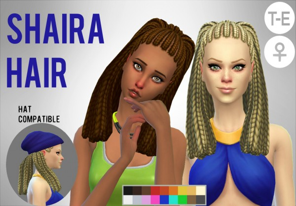 Simduction: Shaira Hair for Sims 4