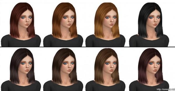 Simista: Nightcrawler Antoinette hair retextured for Sims 4