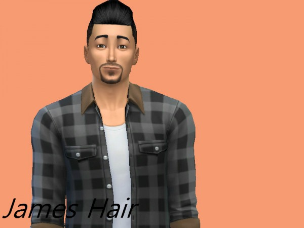 The Sims Resource: James hair by Poker Sims for Sims 4