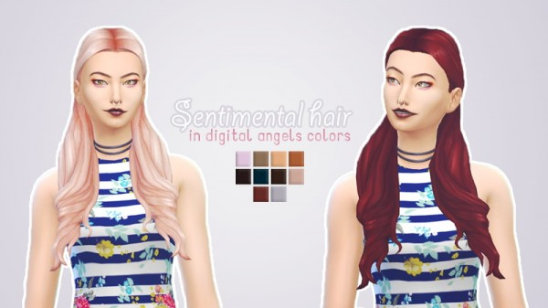 Whoohoosimblr: Sentimental hair recolor for Sims 4