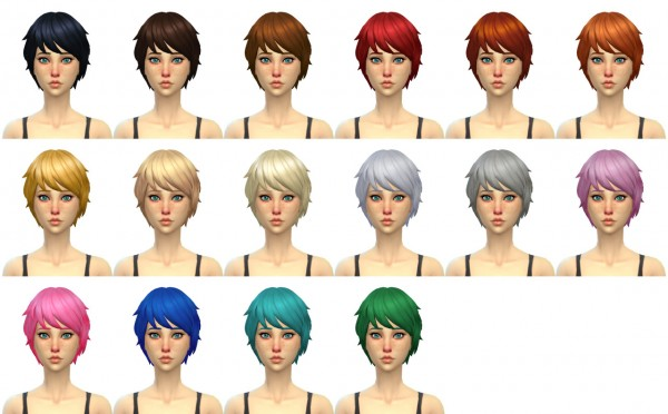 Simduction: Alex hair for Sims 4
