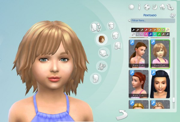Mystufforigin: Bumbling Hairstyle for Girls for Sims 4