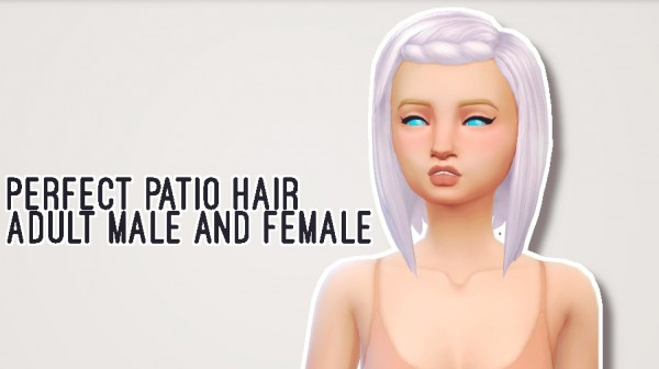 Butternut Gnocchi: Perfect patio hair for Sims 4