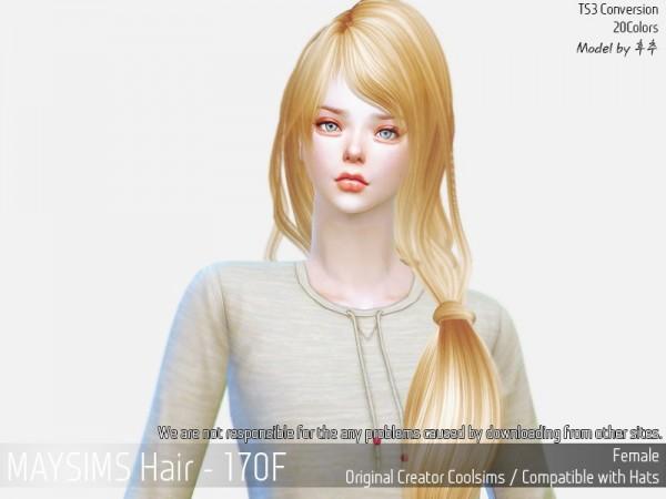 MAY Sims: May Hair 170 F for Sims 4