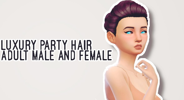 Butternut Gnocchi: Luxury party hair for Sims 4