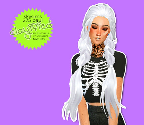 Hab Sims: Skysims 275 Paul clayified for Sims 4