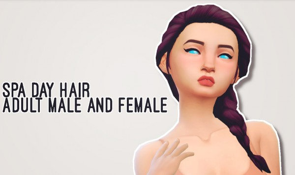 Butternut Gnocchi: Spa day hairs for Sims 4