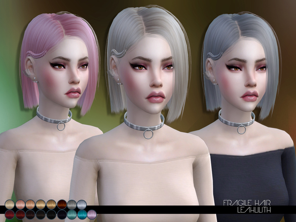 The Sims Resource: Fragile Hair by LeahLillith for Sims 4