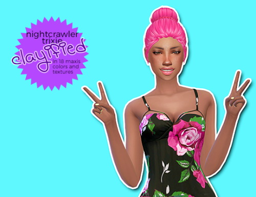 Hab Sims: Nightcrawler Trixie clayified for Sims 4