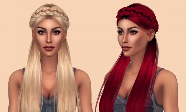 Kenzar Sims: Anto`s Surrender hair retextured for Sims 4