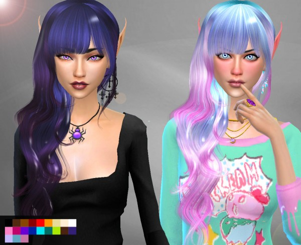 Genius6613: Raonjena 26 hair retextured for Sims 4