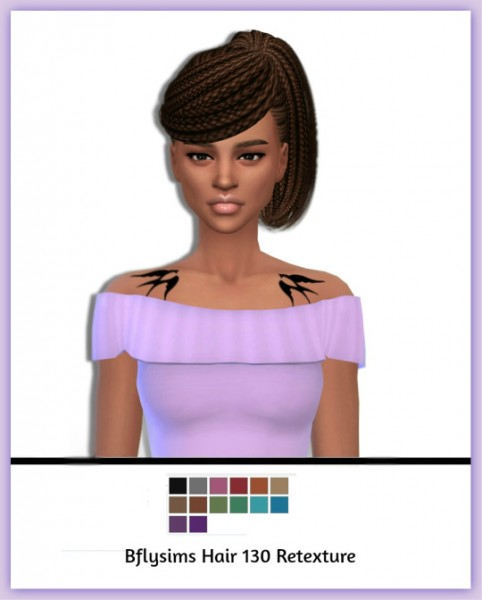 Simsworkshop: Bfly hair 130 retextured by maimouth for Sims 4