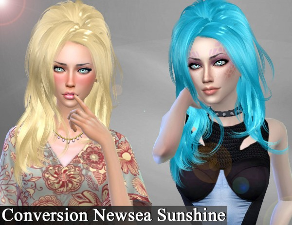 Genius6613: Newsea`s Sunshine hair retextured for Sims 4