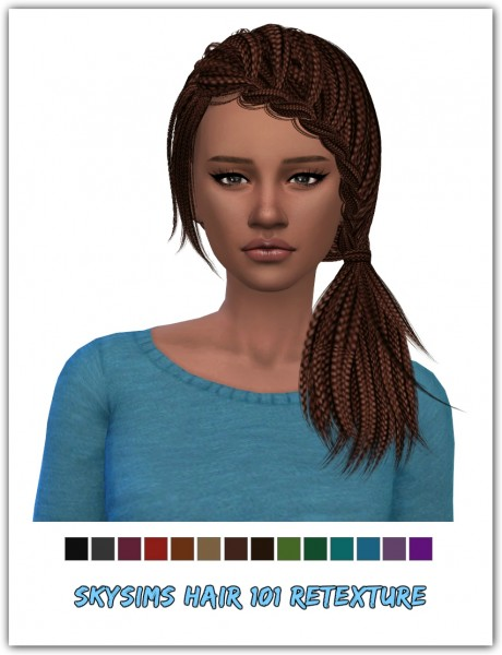 Simsworkshop: Skysims 101 hair retextured for Sims 4