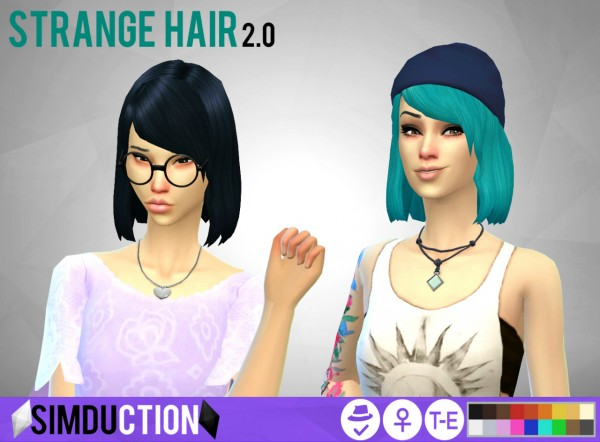 Simduction: Strange Hair for Sims 4