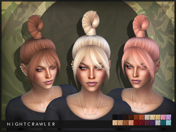 The Sims Resource: Rush hair by Nightcrawler for Sims 4
