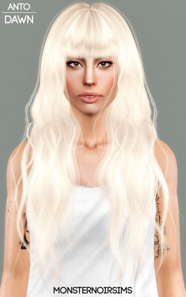 Joseph Sims: Anto   Dawn Hair retextured for Sims 4