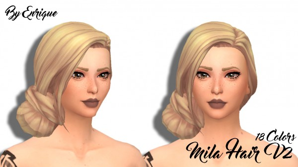 Enrique: Mila Hair V2 for Sims 4