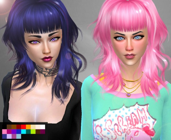 Genius6613: Newsea`s Jelly dance hair retextured for Sims 4
