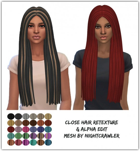 The Sims Resource: Nightcrawler`s Close hair retextured by Maimouth for Sims 4