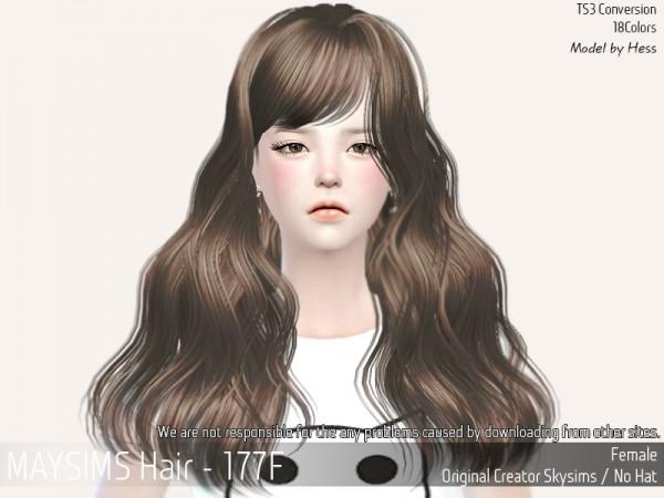 MAY Sims: May 177F hair retextured for Sims 4