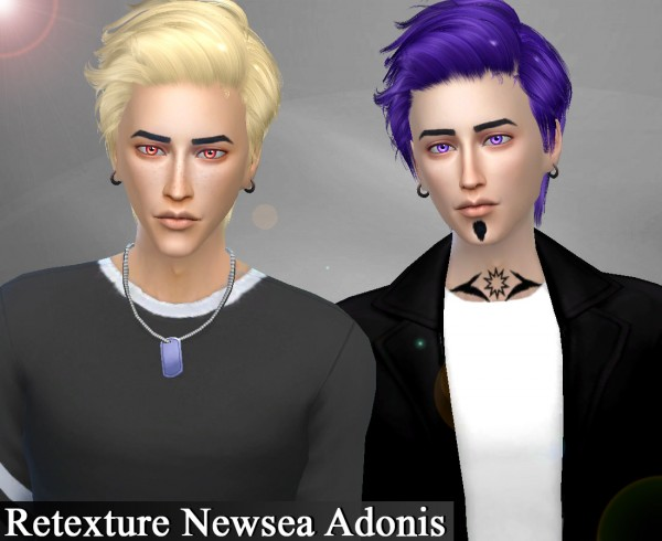 Genius6613: Newsea`s Adonis hair retextured for Sims 4
