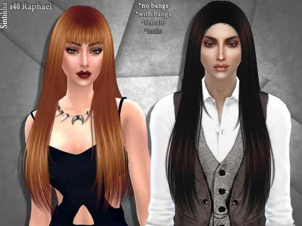 Sintiklia Sims: Hair 40 Raphael by Sintiklia for Sims 4