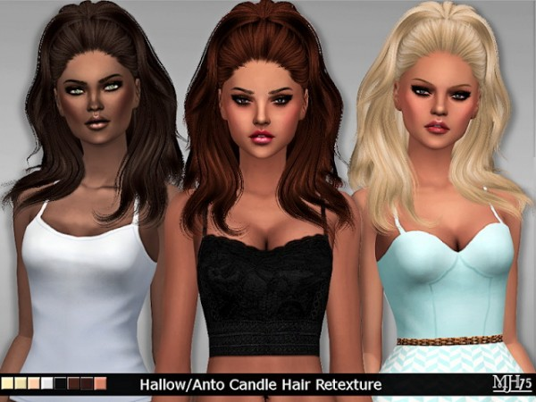 Sims Addiction: Hallow Anto Candle Hair Retextured by Margies Sims for Sims 4