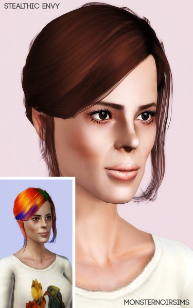 Joseph Sims: Stealthic Envy hair retextured for Sims 4