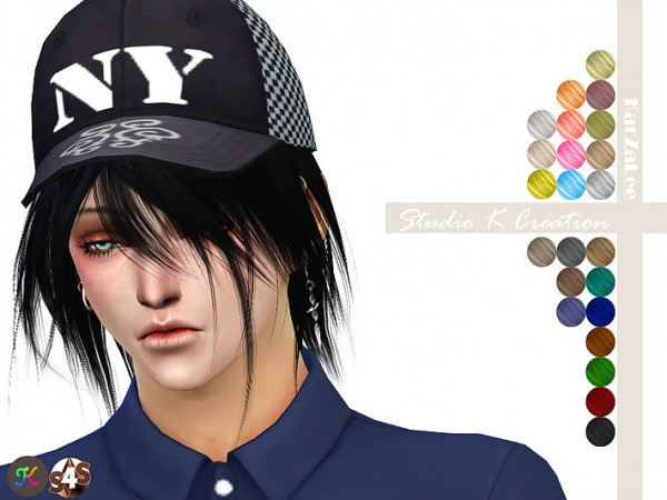 Studio K Creation: Animate hair 52  KYO for Sims 4