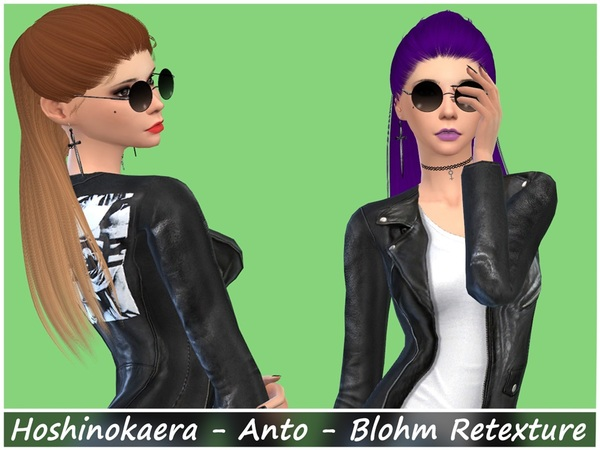 The Sims Resource: Anto`s Blohm hair retextured for Sims 4