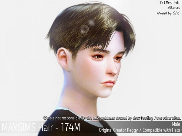 MAY Sims: May Hair 174M for Sims 4