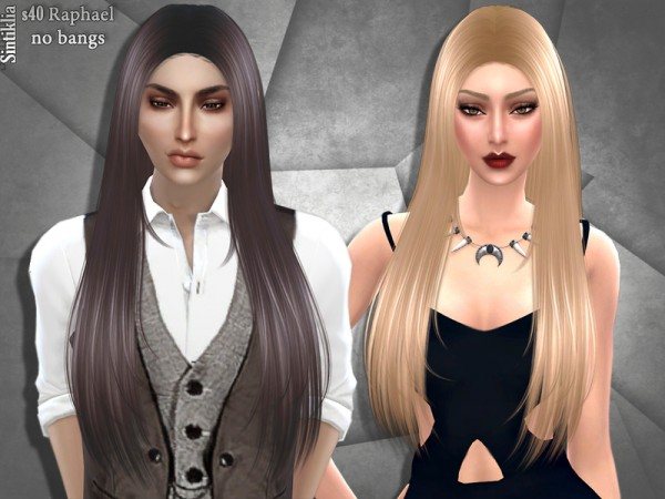 Sintiklia Sims: Hair 40 Raphael by Sintiklia for Sims 4
