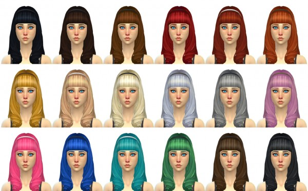 Simduction: Gwen Hair for Sims 4