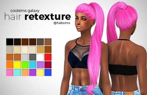 Hab Sims: Coolsims Galaxy hair retextured for Sims 4
