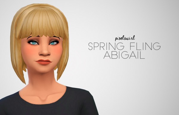 Swirl Goodies: Four hairs retextured for Sims 4