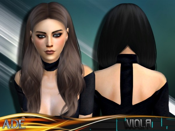 The Sims Resource: Viola hair by Ade Darma for Sims 4