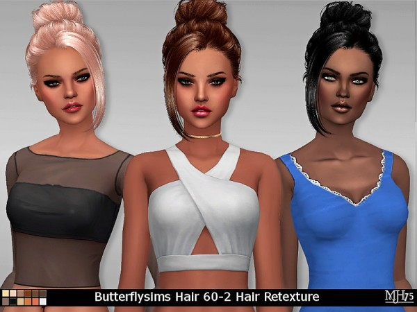 Sims Addiction: Butterfly`s  60  hair retextured by Margies Sims for Sims 4