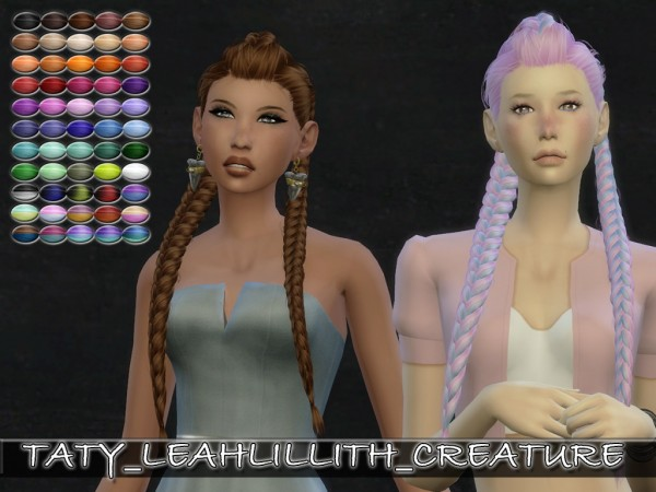 The Sims Resource: LeahLillith`s Creature hair retextured for Sims 4