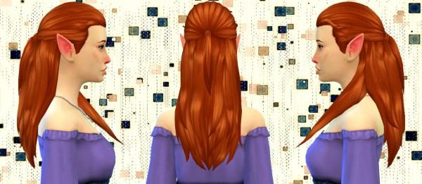 Simduction: Rosita Hair V1 for Sims 4