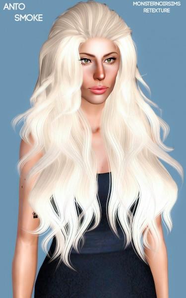 Joseph Sims: Anto`s Smoke Hair Retextured for Sims 4