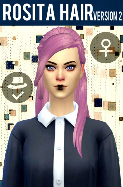 Simduction: Rosita hair V2 for Sims 4
