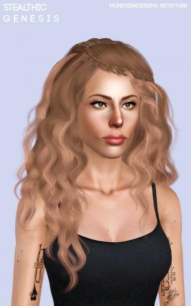 Joseph Sims: Stealthic`s Genesis hair retextured for Sims 4