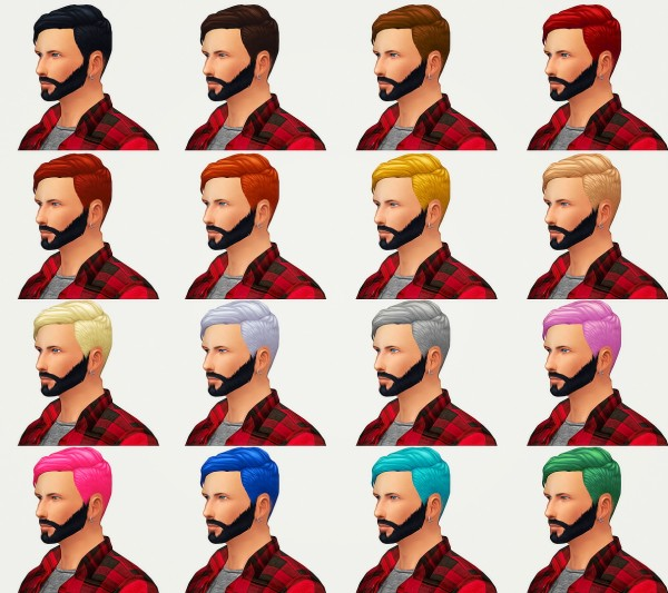 Kot Cat: A very late +300 Followers gift! Thomas hair mesh edit for Sims 4