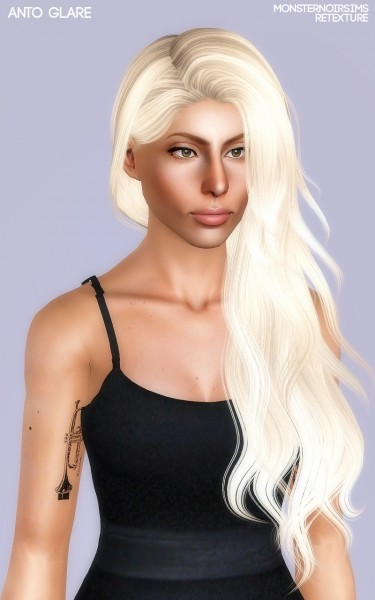 Joseph Sims: Anto`s Glare hair retextured for Sims 4